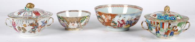 A Chinese mandarin palette bowl,