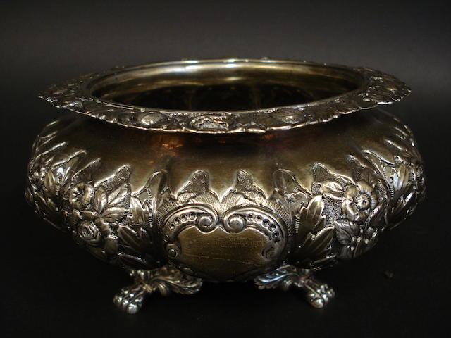 A William IV silver sugar bowl by Charles Marsh, Dublin 1830