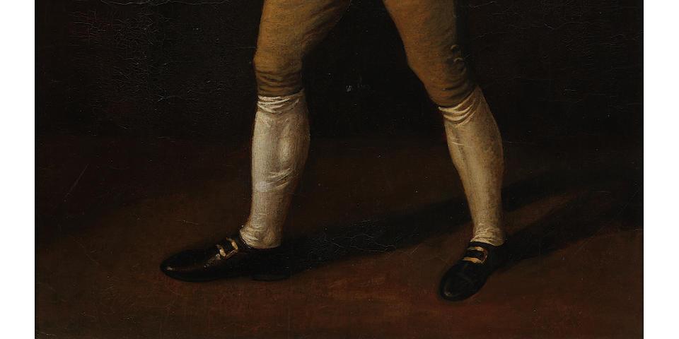 English School, 18th century Portrait of the pugilist George 'The Coachman' Stevenson 1742