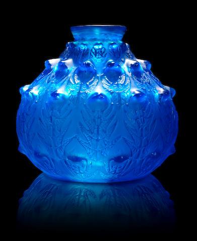 René Lalique 'Fougeres' a Vase, design 1913