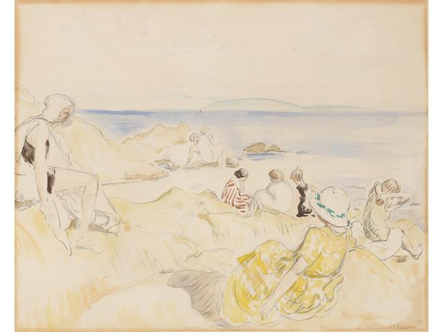 Henri Lebasque (French, 1865-1937) Sur la plage