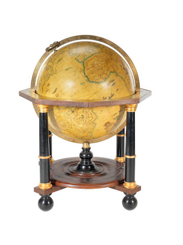 A Greaves & Thomas 33-inch replica terrestrial globe,  English, late 20th century,
