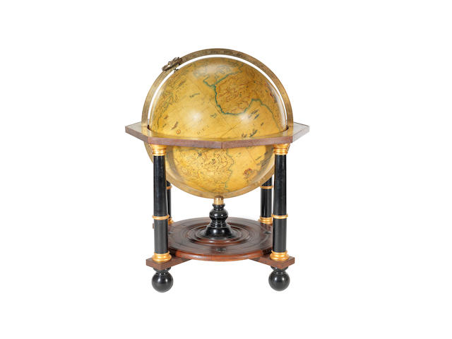 A large Greaves & Thomas 33-inch replica terrestrial globe, English, late 20th century,