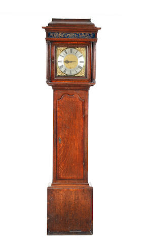 A part 18th century oak-cased thirty-hour longcase clock John Hough, High Leigh