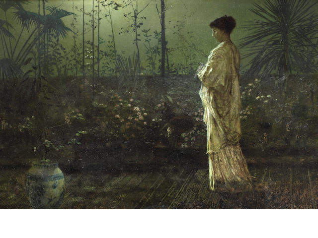 John Atkinson Grimshaw (British, 1836-1893) Night vigil