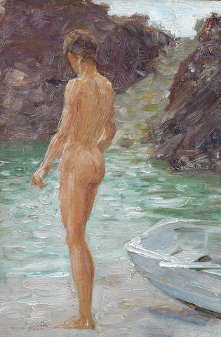 Henry Scott Tuke, RA, RWS (British, 1858-1929) A bather