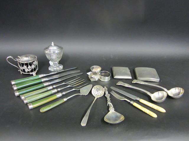 A Victorian pair of Kings pattern silver sauce ladles by George Adams, London 1855