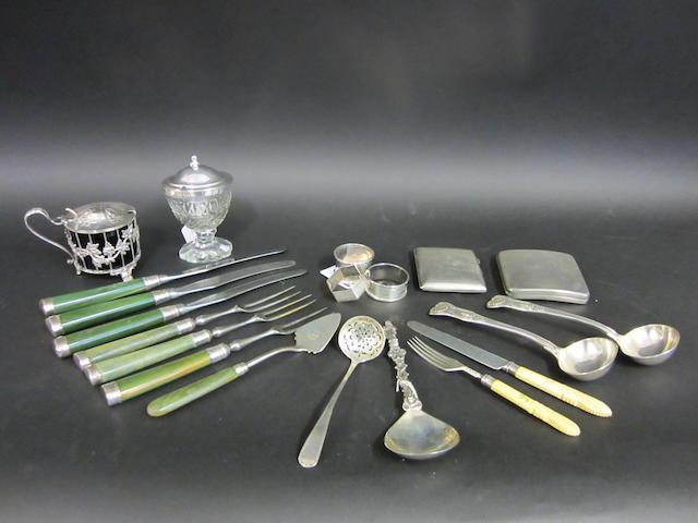 A Victorian pair of Kings pattern silver sauce ladles by George Adams, London 1855