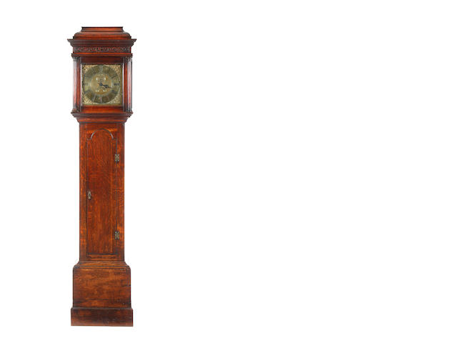 A numbered 18th century oak cased 30 hour longcase clock  William Barnard, Newark (1760-80) no.633