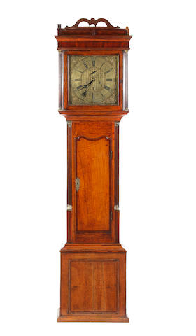 George III oak and mahogany cross-banded 8 day longcase clock  John Owen, Llanrwst