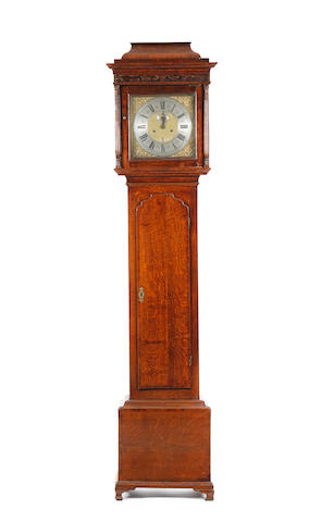 A George III oak-cased eight-day longcase clock The dial signed George Graham, London