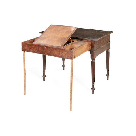 An Anglo Indian early 19th century palmwood campaign table
