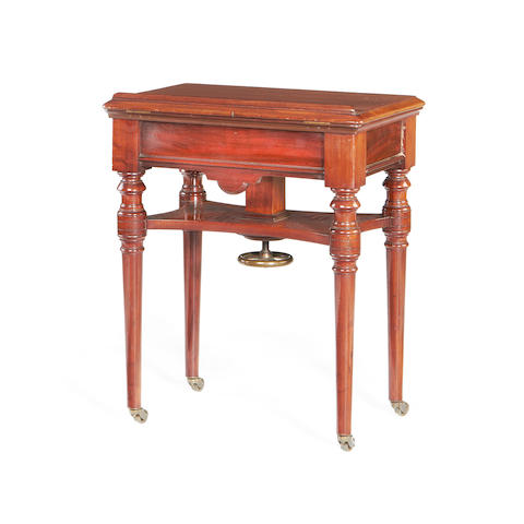 A mid Victorian mahogany reading table  by H. Ogden of Manchester