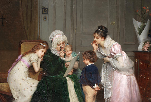 Louis-Emile Adan (French, 1839-1937) His first school report