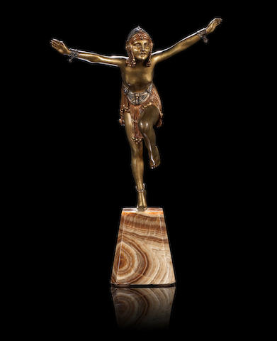Demetre Chiparus (1886-1947) 'Chain Dancer' a Patinated Bronze Sculpture, circa 1925