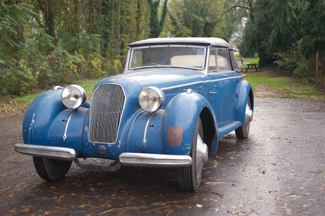 L'une des 51 modèles T150C produites,1938 Talbot Lago T150C 'Lago Spéciale' cabriolet  Chassis no. 90039