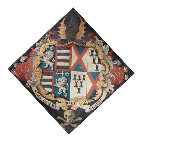 English School, 19th century A Dalton coat of arms of Thurnham Hall, Lancashire