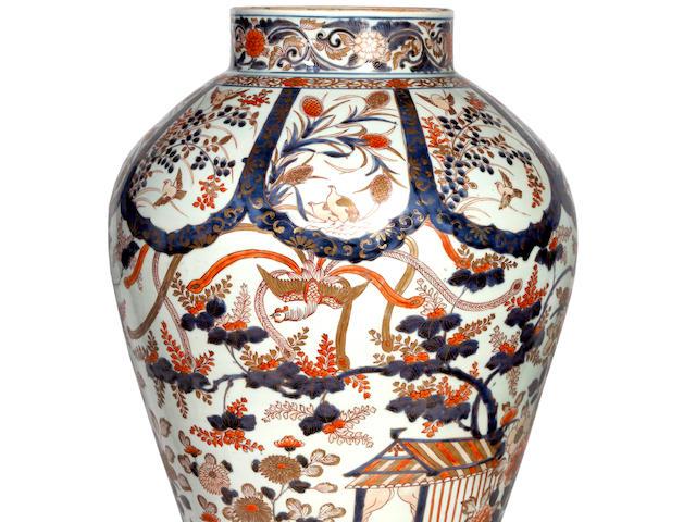 A Japanese Imari baluster jar Edo period