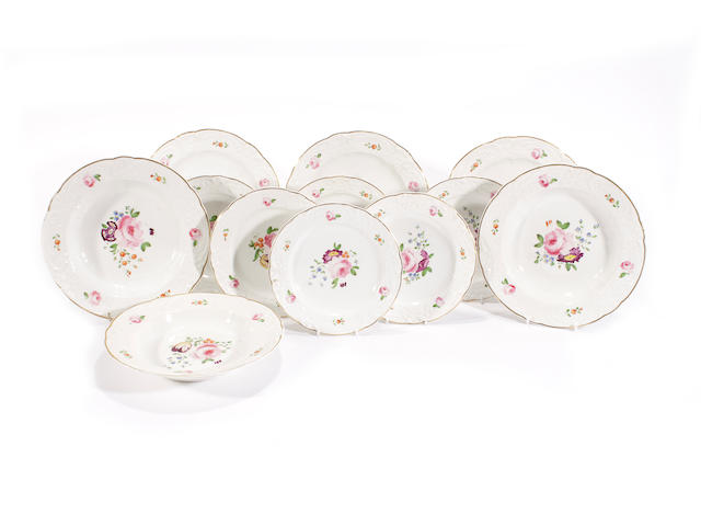 Crown Derby - side plates (6); plates (3); dishes (3)
