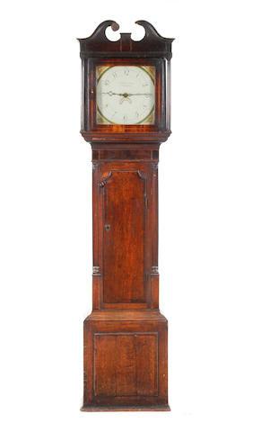 A George III painted dial 30 hour longcase clock John & George Crane, Bromsgrove