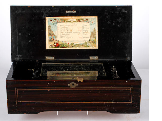 A 19th Century Swiss musical box