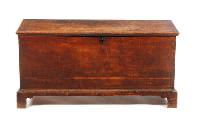 A George III oak boarded chest