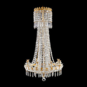 A Regency style gilt metal and cut glass chandelier