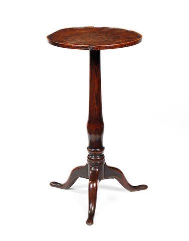 An early George III oak wine table