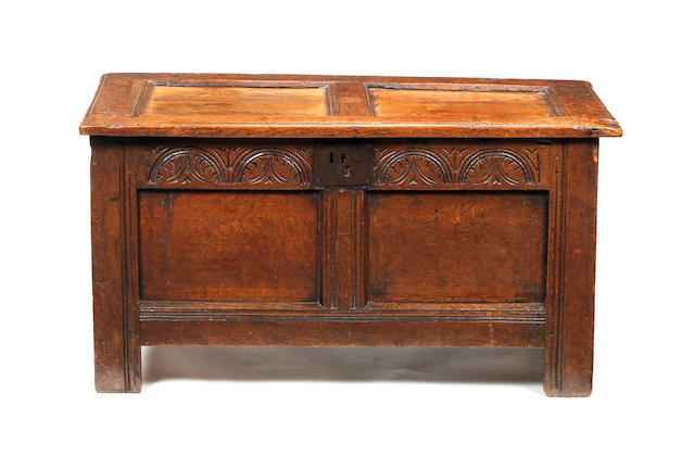 A mid-17th century oak coffer