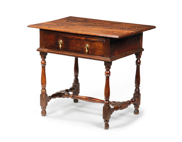 An oak side table, circa 1700