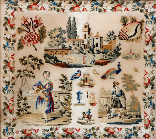 An early Victorian needlework picture