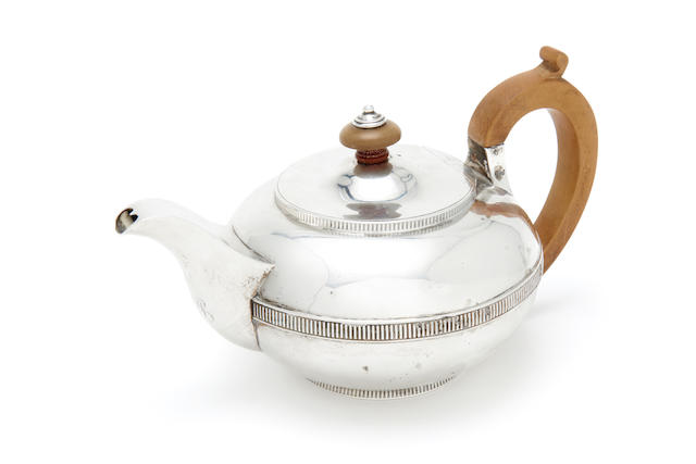 ROYAL INTEREST: A George III  silver teapot  by Robert Garrard,  London 1817