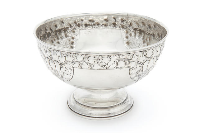 A 20th century silver bowl by M. Bros, Birmingham 1903