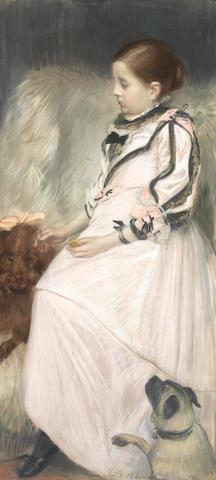 Jacques-Emile  Blanche (French, 1861-1942) La Petite Fille aux Chiens