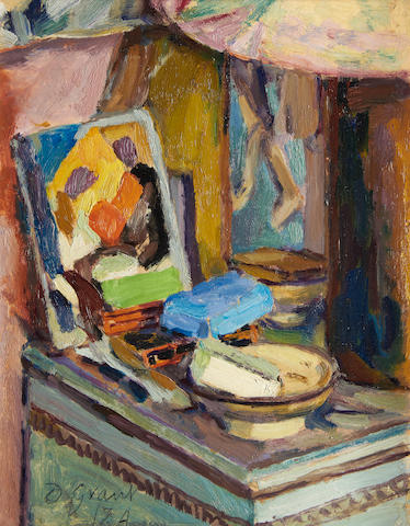 Duncan Grant (British, 1885-1978) Table by the Studio Fireplace, Charleston 29.5 x 23.2 cm. (11 5/8 x 9 1/8 in.)