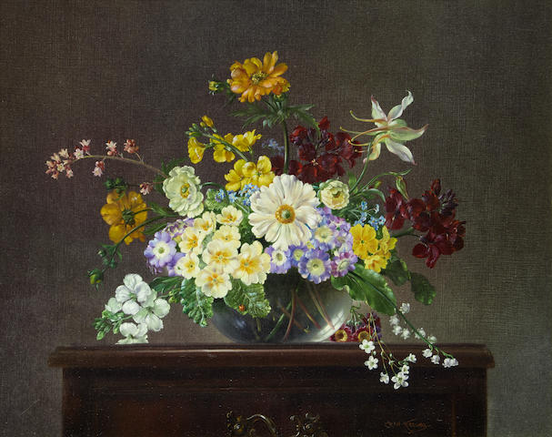 Cecil Kennedy (British, 1905-1997) Still life of spring flowers