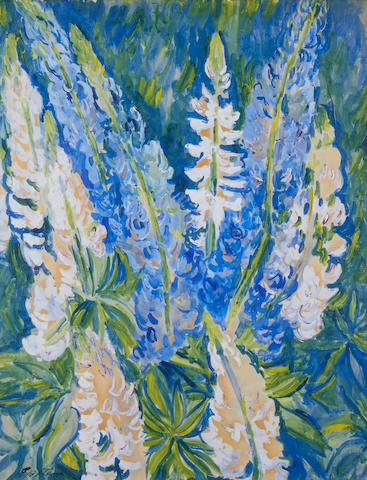Sir Jacob Epstein (British, 1880-1959) Lupins
