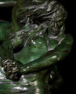 Raoul François Larche 'The Tempest' a Large Patinated Bronze Figural Group