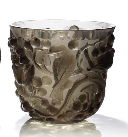 René Lalique  'Avallon' a Vase, design 1927