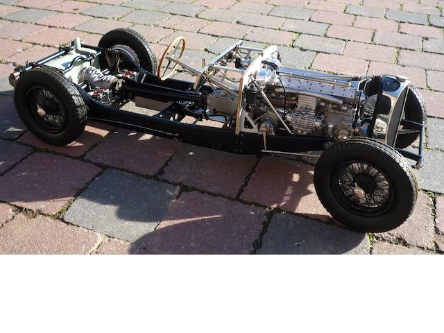 A superb and very rare 1:8 scale model of a Bugatti Type 57S 'rolling chassis' by Jean-Paul Fontenelle,