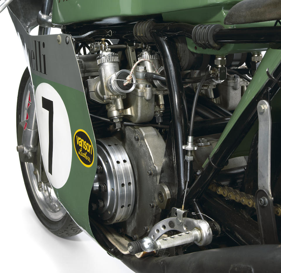 Ex-Team Obsolete,Re-creation of a 1969 Benelli 350cc Grand Prix Racing Motorcycle Frame no. 008 Engine no. N.6