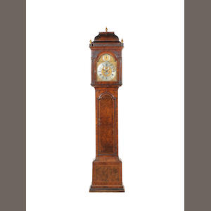 A late 18th century walnut longcase clock Samuel Aris, Leicester Fields, London