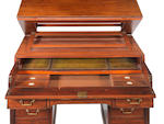 A late Regency mahogany partners/architects secretaire desk by J. Warrington possibly for Gillows??