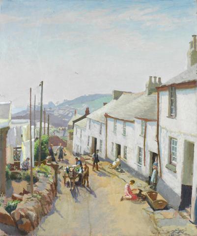 Harold Harvey (British, 1874-1941) Old Newlyn