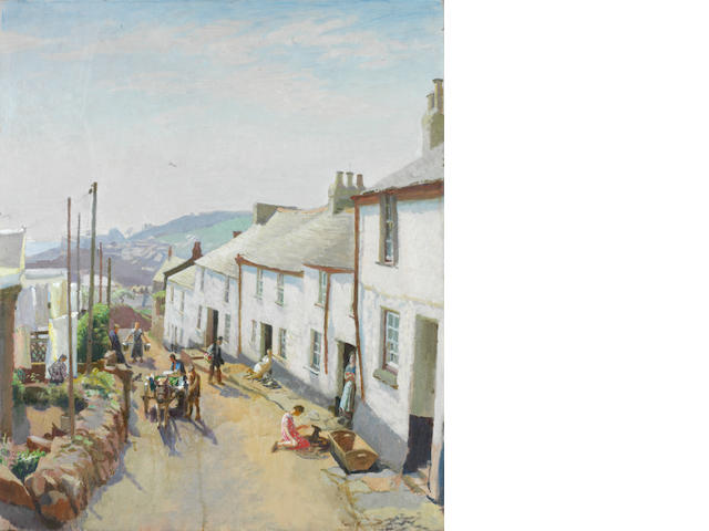 Harold Harvey (British, 1874-1941) Old Newlyn