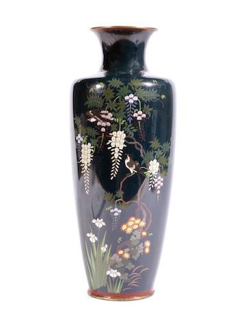 A Japanese cloisonné vase
