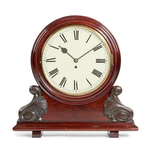 A Victorian mahogany mantel timepiece