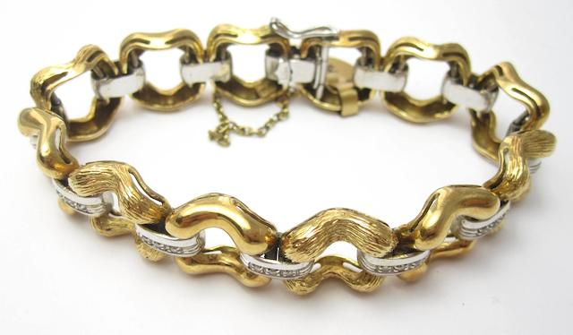 An 18ct gold diamond bracelet, by Mappin & Webb