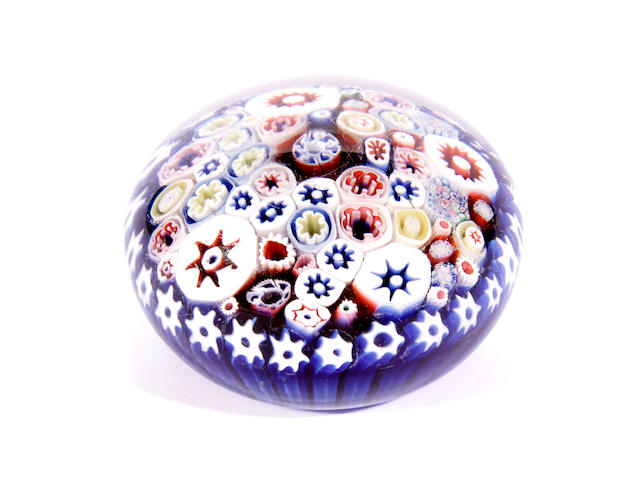 A Bacchus millefiori paperweight, mid to late 19th century