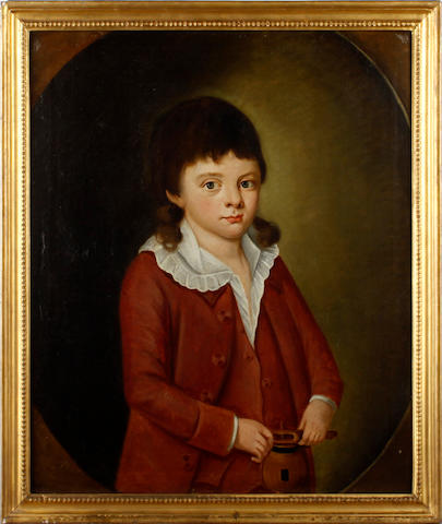 English School, 19th century Portrait of John Smith as a boy